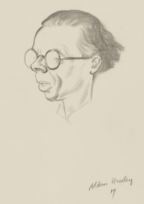 Aldous Huxley, by Sir David Low, 1933 or before - NPG 4529(173) - © Solo Syndication Ltd