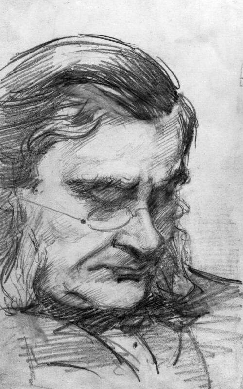 Thomas Henry Huxley, by Marian Collier (née Huxley),  - NPG 3145 - © National Portrait Gallery, London