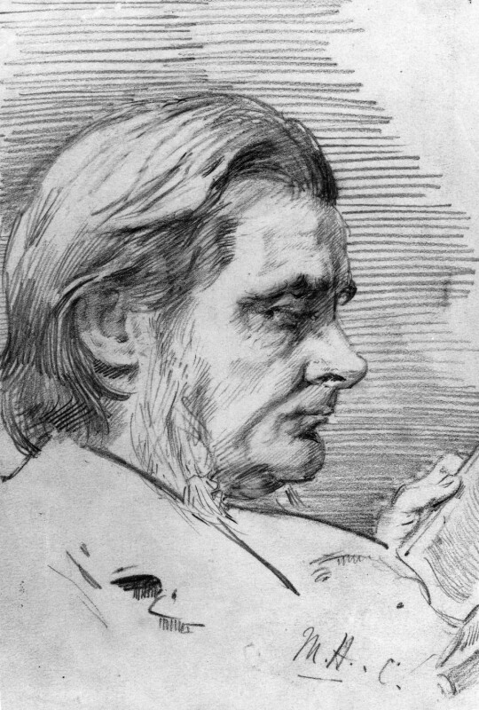 Thomas Henry Huxley, by Marian Collier (née Huxley),  - NPG 3147 - © National Portrait Gallery, London