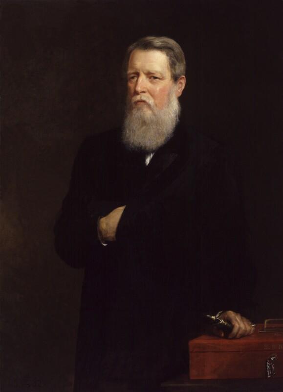 Sir Stafford Henry Northcote, 1st Earl of Iddesleigh, by Edwin Longsden Long, 1882 - NPG 2944 - © National Portrait Gallery, London