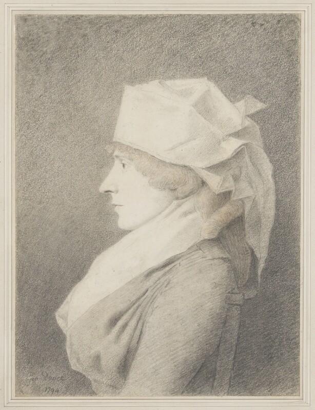 Elizabeth Inchbald (née Simpson), by George Dance, 1794 -NPG 1144 - © National Portrait Gallery, London