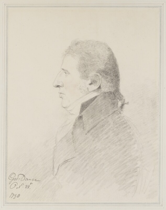 Charles Incledon, by George Dance, 1798 - NPG 1145 - © National Portrait Gallery, London