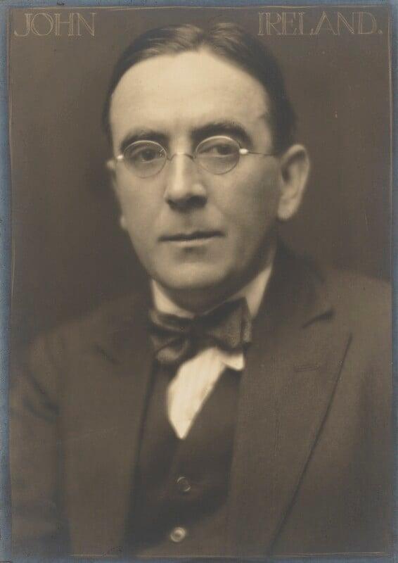 John Nicholson Ireland, by Herbert Lambert, circa 1920 - NPG P105 - © National Portrait Gallery, London