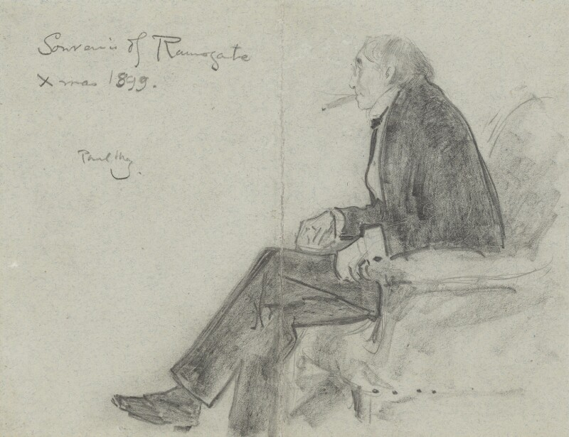 Sir Henry Irving, by Phil May, 1899 -NPG 3679 - © National Portrait Gallery, London