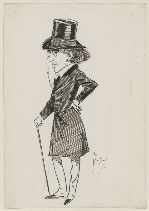 Sir Henry Irving, by Phil May, circa 1880s -NPG 1611 - © National Portrait Gallery, London