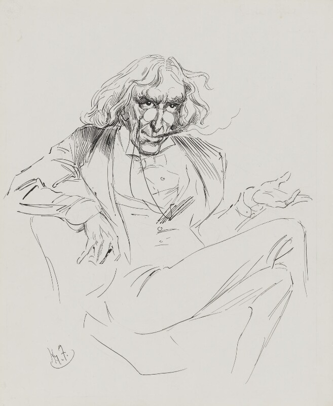 Sir Henry Irving, by Harry Furniss, published circa 1913-1916 - NPG 4095(6) - © National Portrait Gallery, London
