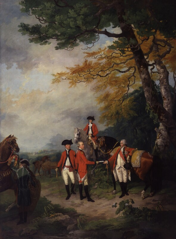 Sir John Irwin, KB, reviewing Troops in Dublin, by Francis Wheatley, 1781 -NPG 682 - © National Portrait Gallery, London
