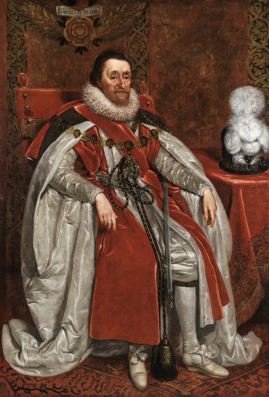 King James I of England and VI of Scotland, by Daniel Mytens, 1621 - NPG 109 - © National Portrait Gallery, London