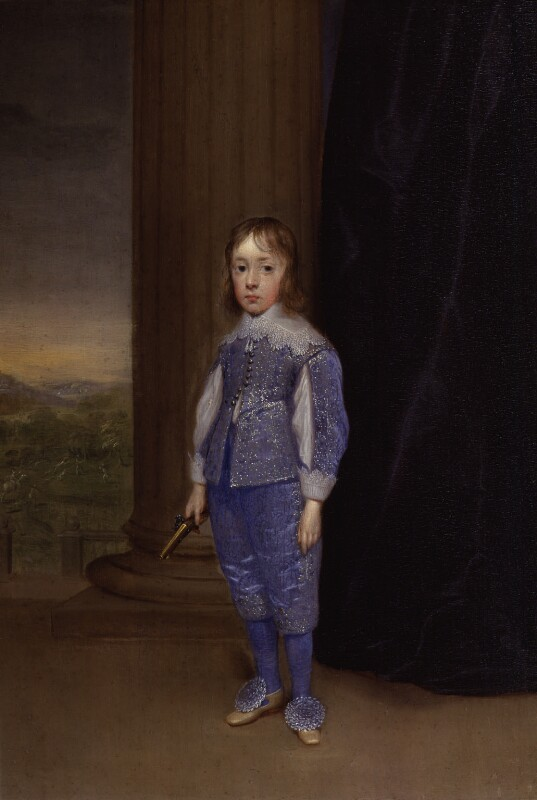 King James II, by Cornelius Johnson, 1639 - NPG 5104 - © National Portrait Gallery, London