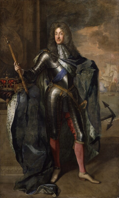 King James II, by Sir Godfrey Kneller, Bt, 1684 -NPG 666 - © National Portrait Gallery, London