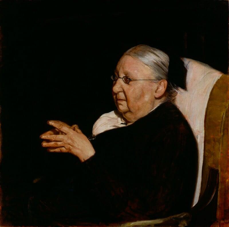 Gertrude Jekyll, by Sir William Newzam Prior Nicholson, 1920 - NPG 3334 - © National Portrait Gallery, London