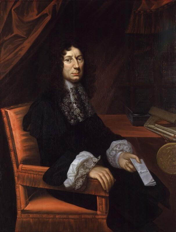 Sir Leoline Jenkins, by Herbert Tuer, 1679 - NPG 92 - © National Portrait Gallery, London