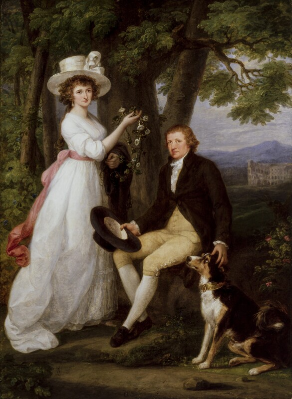 Anna Maria Jenkins; Thomas Jenkins, by Angelica Kauffmann, 1790 - NPG 5044 - © National Portrait Gallery, London