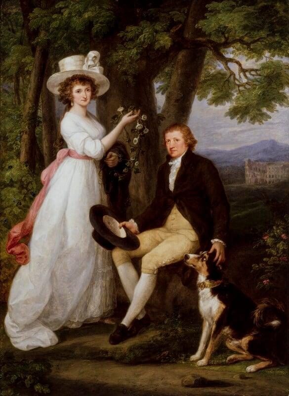 Anna Maria Jenkins; Thomas Jenkins, by Angelica Kauffmann, 1790 - NPG 5044 - © National Portrait Gallery, London