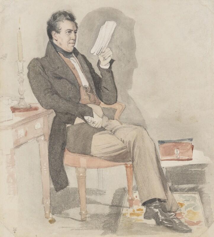 William Jerdan, by Daniel Maclise, published 1830 -NPG 3028 - © National Portrait Gallery, London
