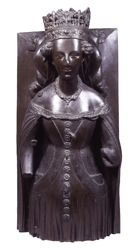 Joanna of Navarre, by Elkington & Co, cast by  Domenico Brucciani, after  Unknown artist, 1875, based on a work of circa 1408-1427 - NPG 398 - © National Portrait Gallery, London