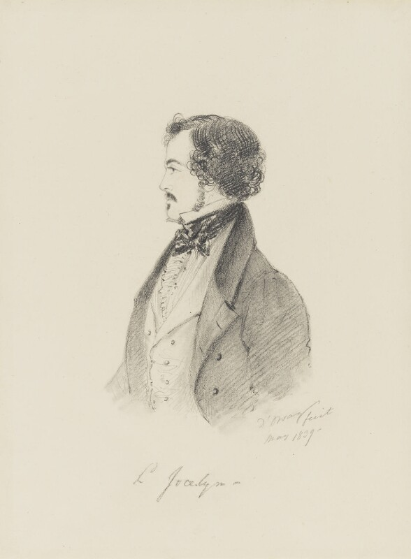 Robert Jocelyn, Viscount Jocelyn, by Alfred, Count D'Orsay, 1839 - NPG 4026(38) - © National Portrait Gallery, London