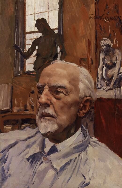 Sir William Goscombe John, by Erich Wolfsfeld, circa 1944 - NPG 5102 - © National Portrait Gallery, London