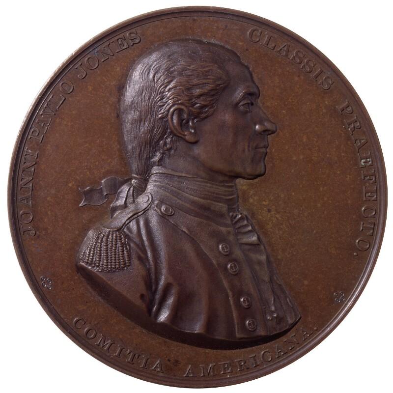 John Paul Jones, by Augustin Dupré; Jean Antoine Houdon, 1789 -NPG 4022 - © National Portrait Gallery, London