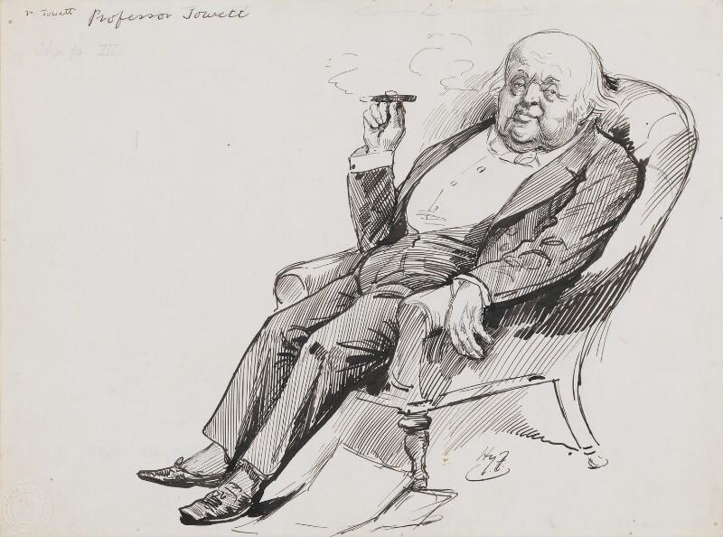 Benjamin Jowett, by Harry Furniss, 1880s-1900s - NPG 3475 - © National Portrait Gallery, London