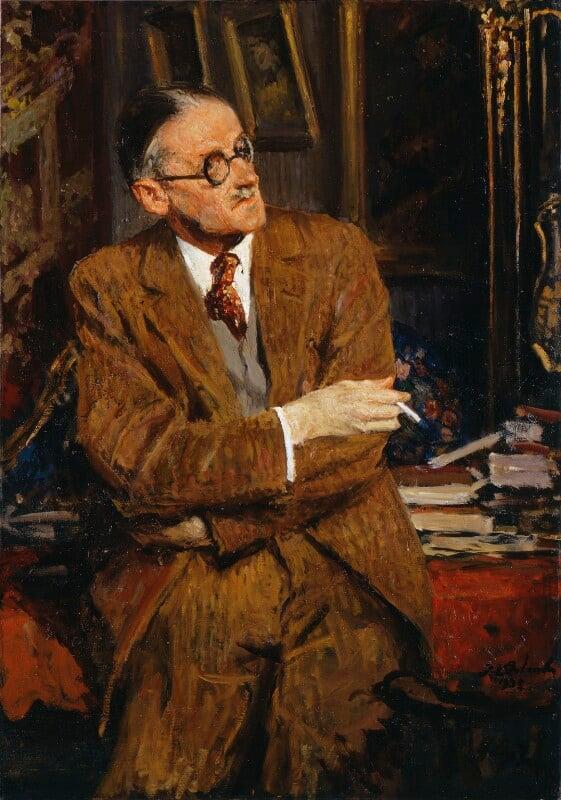 James Joyce, by Jacques-Emile Blanche, 1935 - NPG 3883 - © National Portrait Gallery, London