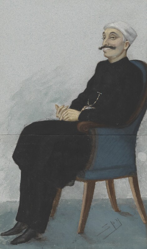 Sir Salar Jung, by Sir Leslie Ward, published in Vanity Fair 14 October 1876 - NPG 2580 - © National Portrait Gallery, London