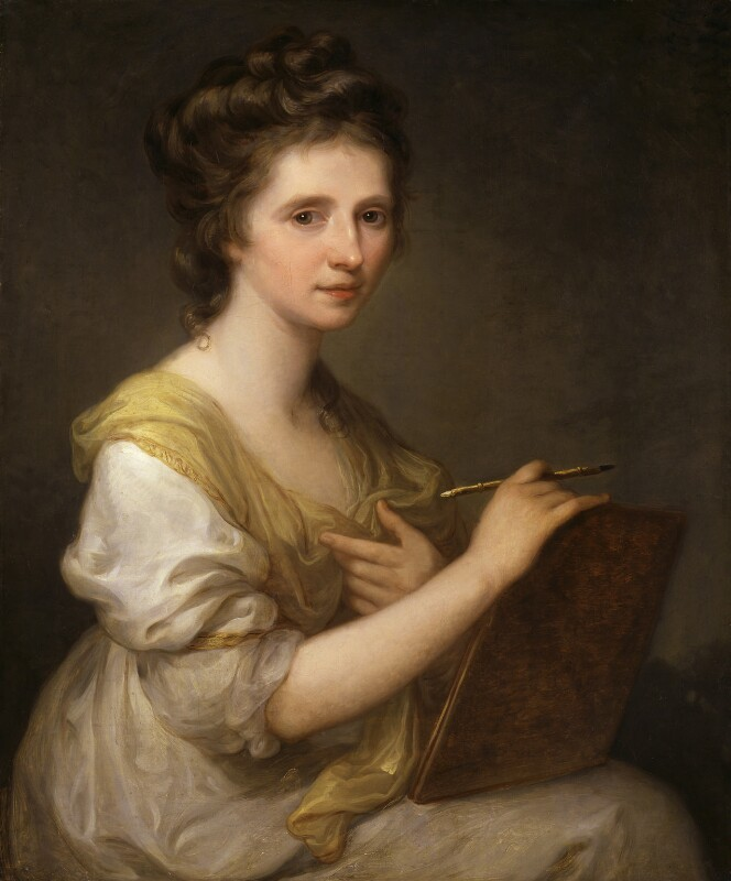Angelica Kauffmann, by Angelica Kauffmann, circa 1770-1775 - NPG 430 - © National Portrait Gallery, London