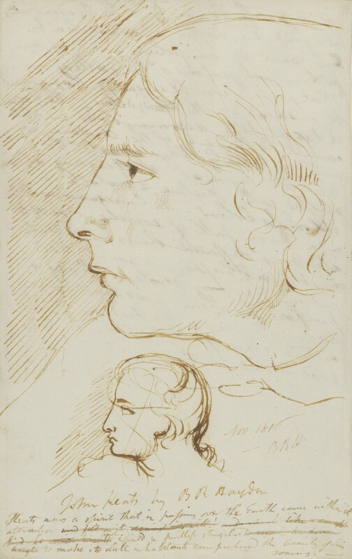 John Keats, by Benjamin Robert Haydon, 1816 - NPG 3251 - © National Portrait Gallery, London
