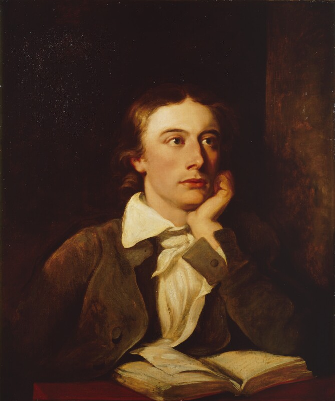 John Keats, by William Hilton; Joseph Severn, based on a work of circa 1822 -NPG 194 - © National Portrait Gallery, London
