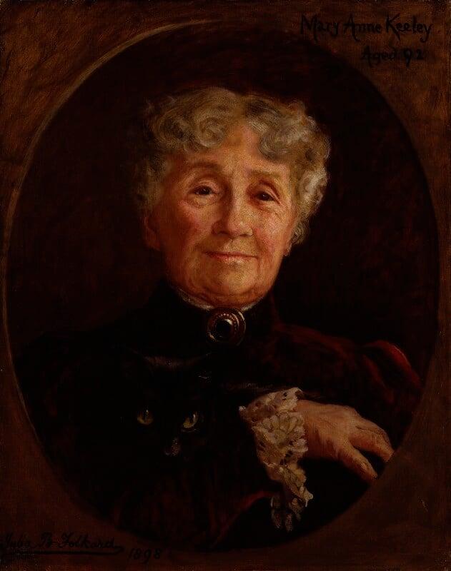 Mary Anne Keeley (née Goward), by Julia Bracewell Folkard, 1898 - NPG 1558 - © National Portrait Gallery, London