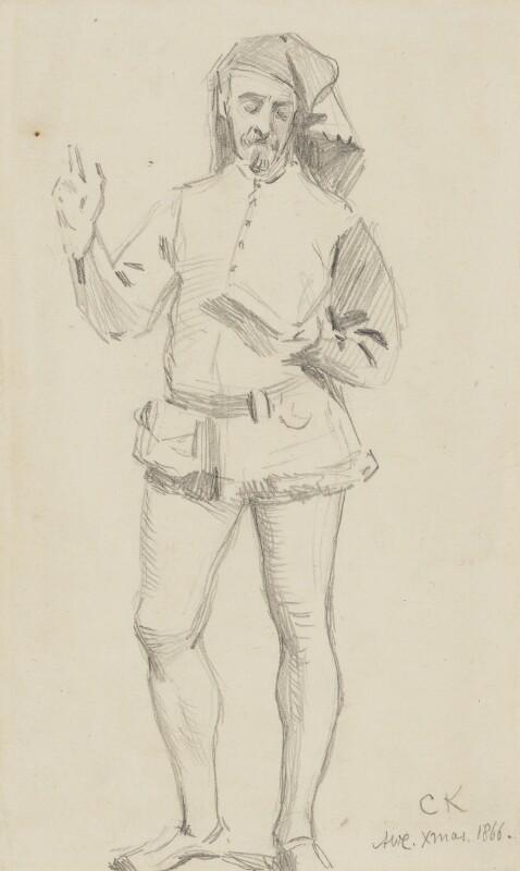 Charles Samuel Keene, by Alfred William Cooper, 1866 -NPG 2771 - © National Portrait Gallery, London