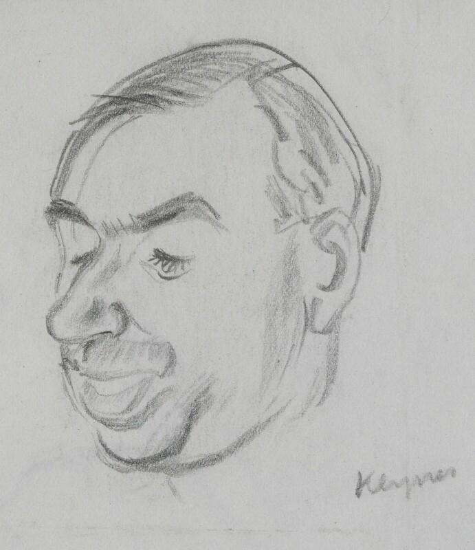 John Maynard Keynes, Baron Keynes, by Sir David Low, 1933 or before - NPG 4529(191) - © Solo Syndication Ltd