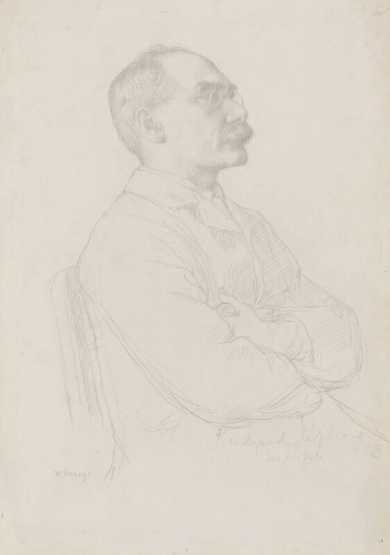 Rudyard Kipling, by William Strang, circa 1898 - NPG 2919 - © National Portrait Gallery, London