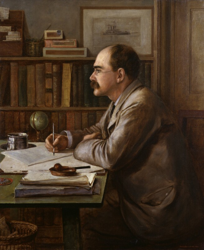 Rudyard Kipling, by Sir Philip Burne-Jones, 2nd Bt, 1899 - NPG 1863 - © National Portrait Gallery, London