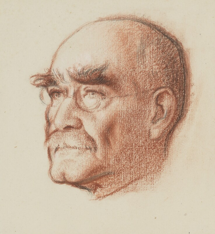Rudyard Kipling, by Sir William Rothenstein, circa 1932 - NPG 3874 - © National Portrait Gallery, London
