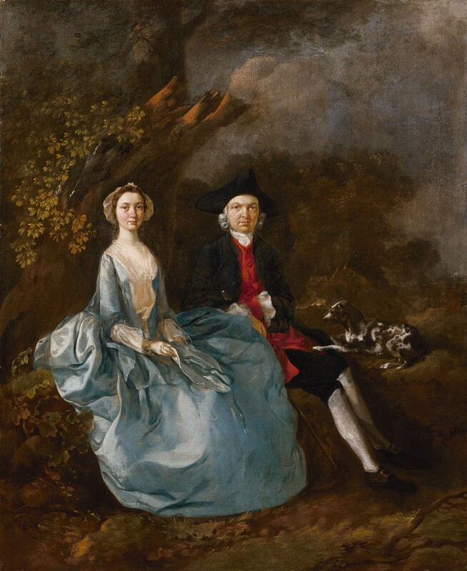 Sarah Kirby (née Bull); (John) Joshua Kirby, by Thomas Gainsborough, circa 1751-1752 -NPG 1421 - © National Portrait Gallery, London