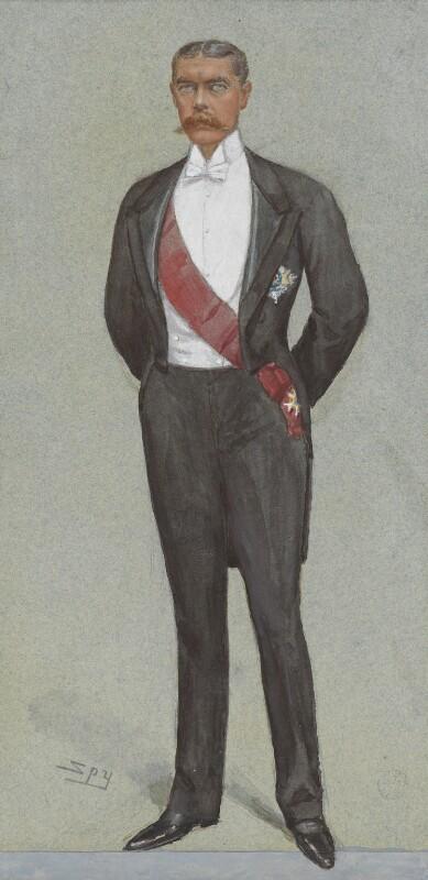 Herbert Kitchener, 1st Earl Kitchener, by Sir Leslie Ward, published in Vanity Fair 23 February 1899 - NPG 2684 - © National Portrait Gallery, London