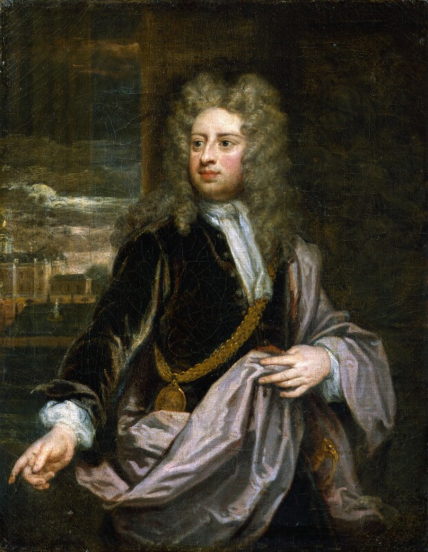 Sir Godfrey Kneller, Bt, by Sir Godfrey Kneller, Bt, circa 1706-1711 -NPG 3214 - © National Portrait Gallery, London