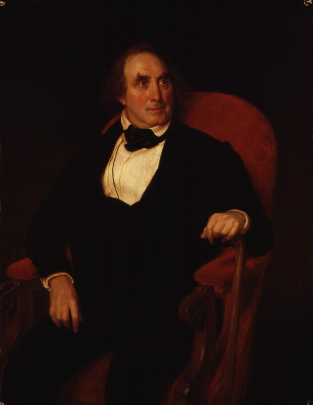 James Sheridan Knowles, by Wilhelm Trautschold, exhibited 1849 -NPG 2003 - © National Portrait Gallery, London