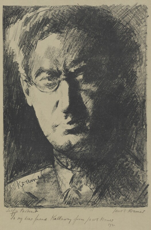 Jacob Kramer, by Jacob Kramer, 1930 - NPG 4871 - © William Roberts Society