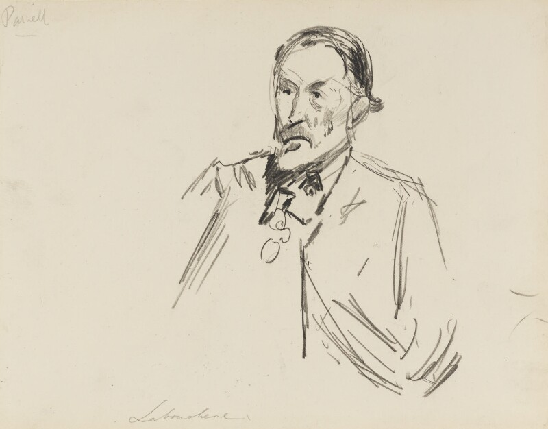 Henry du Pré Labouchère, by Sydney Prior Hall, 1888-1889 - NPG 2283 - © National Portrait Gallery, London