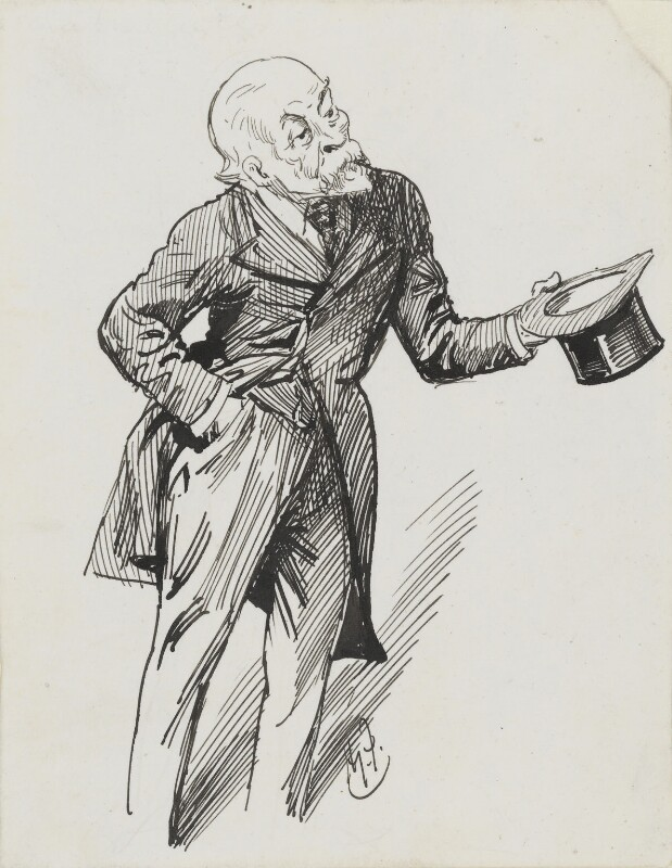 Henry du Pré Labouchère, by Harry Furniss, 1880s-1900s - NPG 3589 - © National Portrait Gallery, London