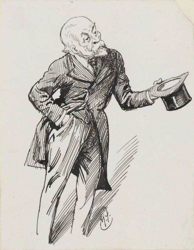 Henry du Pré Labouchère, by Harry Furniss, 1880s-1900s - NPG 3589 - © National Portrait Gallery, London
