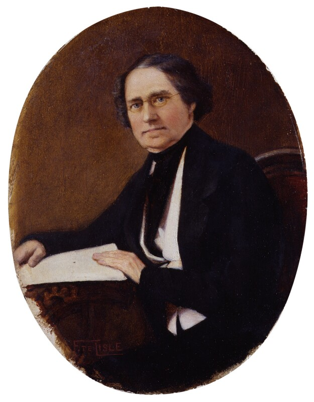 Dionysius Lardner, by Edith Fortunée Tita De Lisle,  - NPG 1039 - © National Portrait Gallery, London