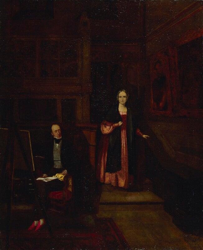 Francis Seymour Larpent; Charlotte Rosamund Larpent (née Arnold), by Unknown artist, circa 1830 - NPG 3806 - © National Portrait Gallery, London