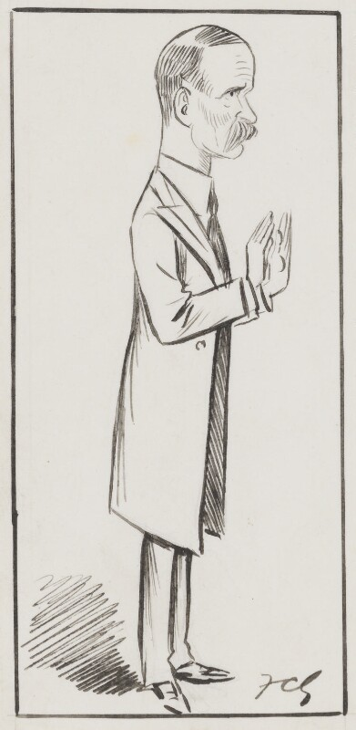 Bonar Law, by Sir Francis Carruthers Gould ('F.C.G.'), 1900s? - NPG 2847 - © National Portrait Gallery, London
