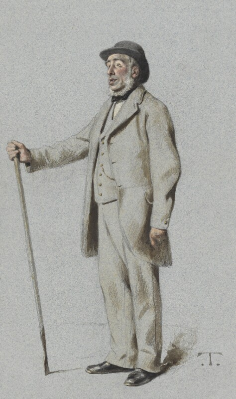 Sir John Bennet Lawes, 1st Bt, by Théobald Chartran ('T'), published in Vanity Fair 8 July 1882 - NPG 2643 - © National Portrait Gallery, London