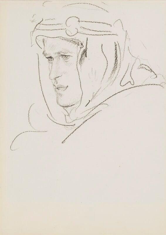 T.E. Lawrence, by Augustus Edwin John, 1919 - NPG 3187 - © National Portrait Gallery, London