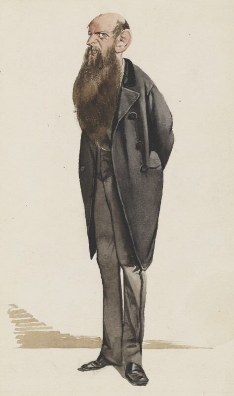 Sir Wilfrid Lawson, 2nd Bt, by Thomas Nast, published in Vanity Fair 11 May 1872 - NPG 2728 - © National Portrait Gallery, London