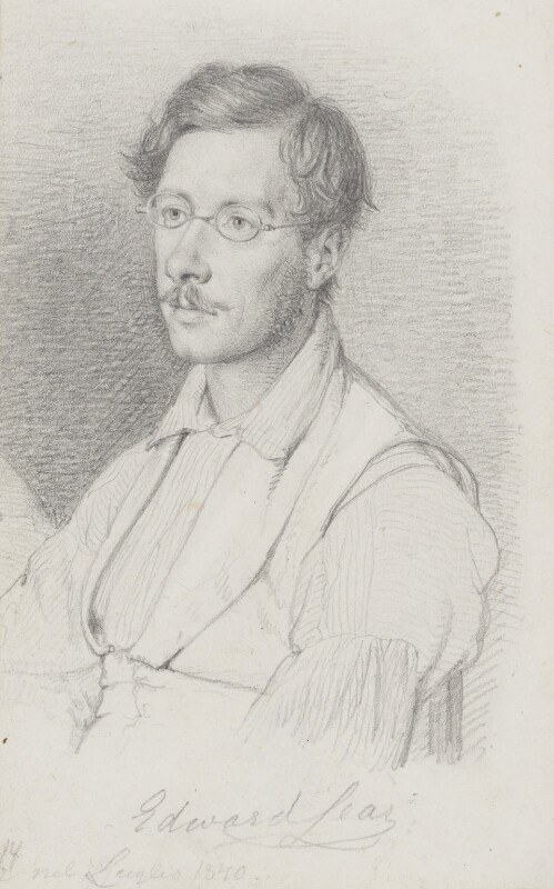 Edward Lear, by Wilhelm Nicolai Marstrand, 1840 - NPG 3055 - © National Portrait Gallery, London
